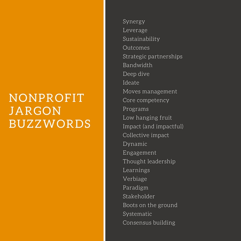 Nonprofit Jargon Buzzwords