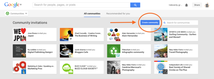 Create a Google Plus Community