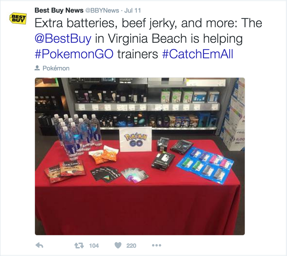 Best Buy Pokemon GO marketing