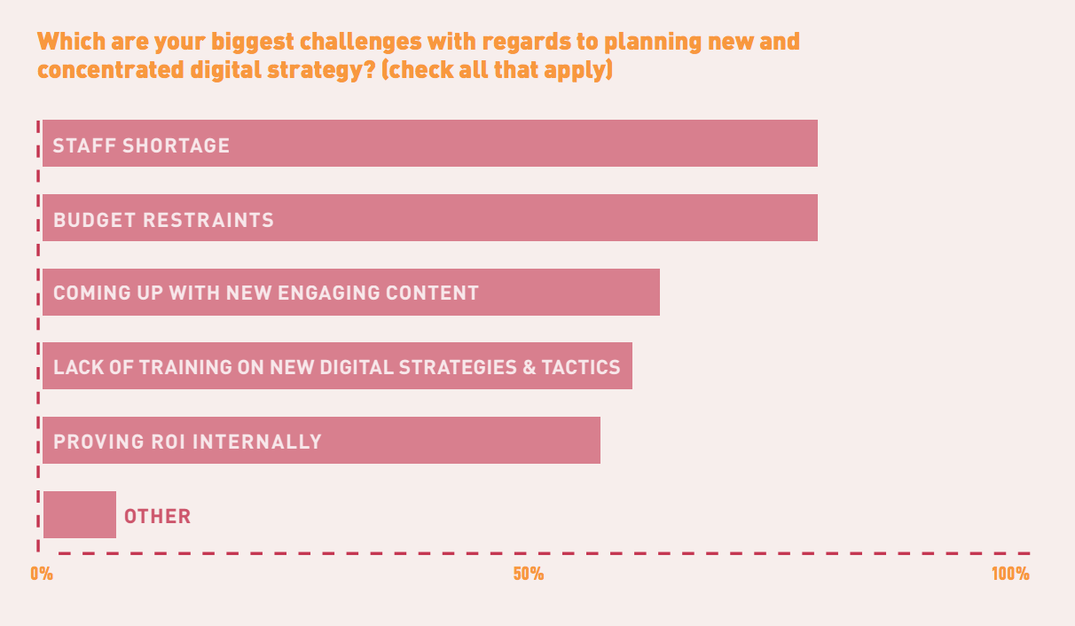 Biggest challenges to nonprofit digital strategy