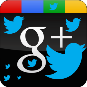 Twitter and Google Plus make up the most potent 1-2 punch in social media marketing
