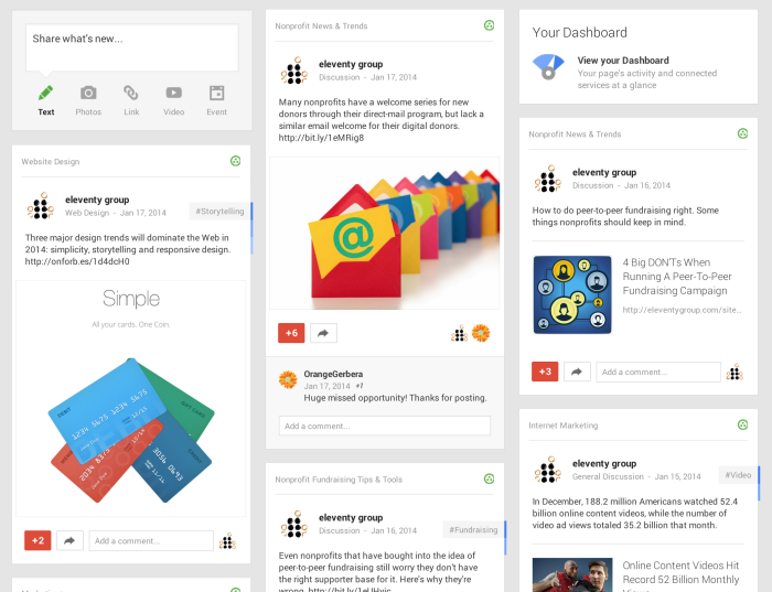 Being an Active Brand on Google Plus