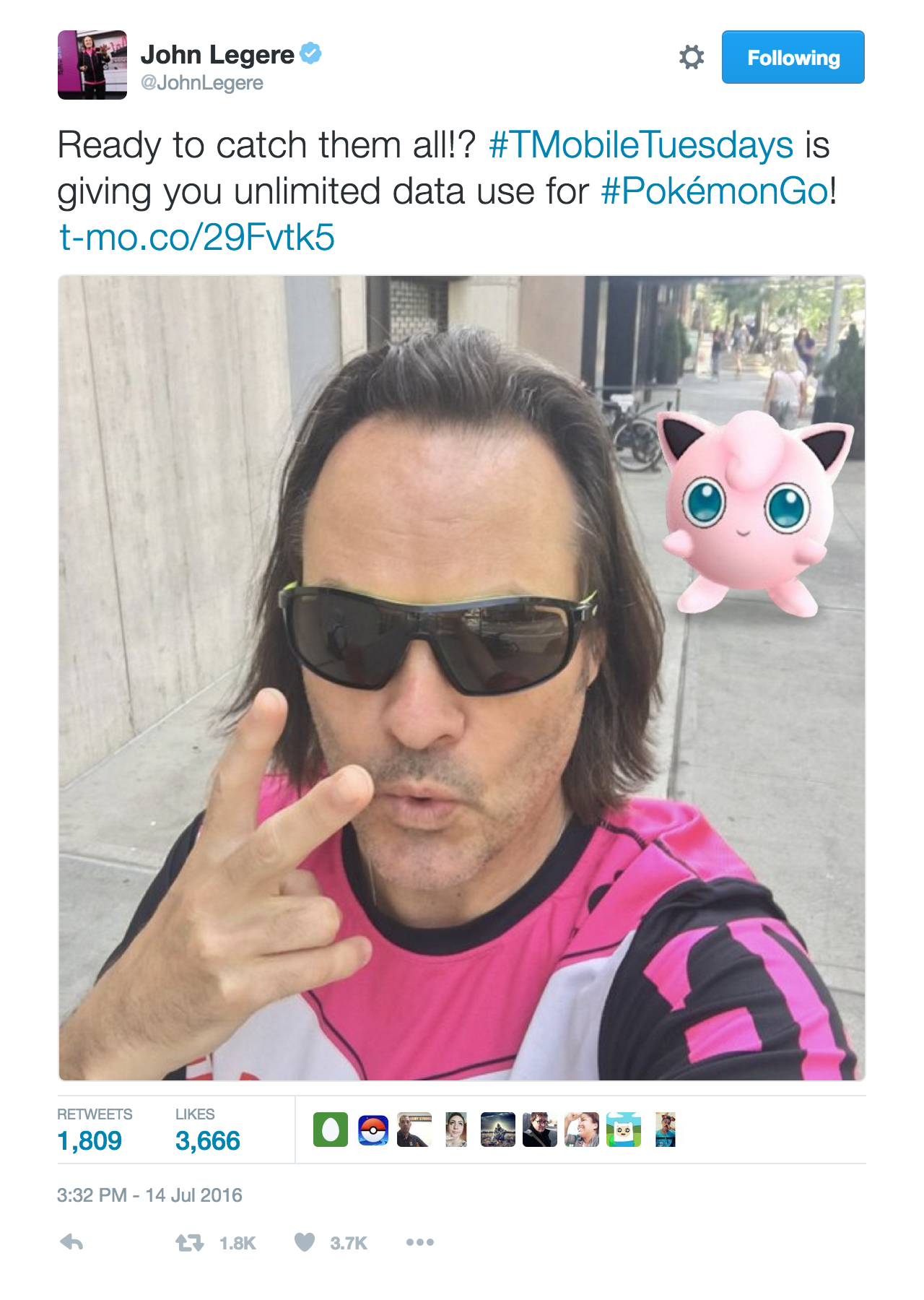 T-Mobile Pokemon GO marketing effort