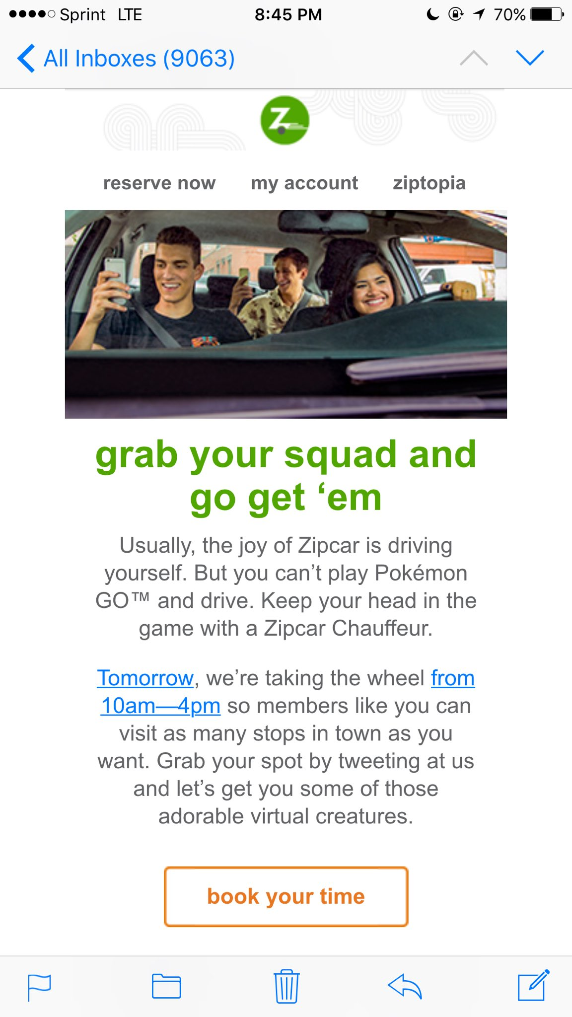 Zipcar Pokemon Go marketing